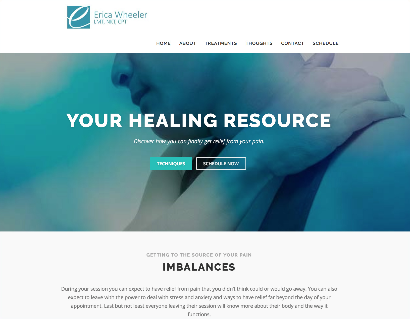 brimming design wordpress website