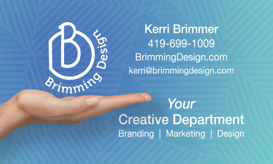 brimming design business card