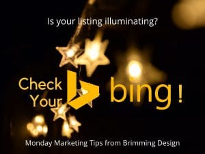 check your bing listing