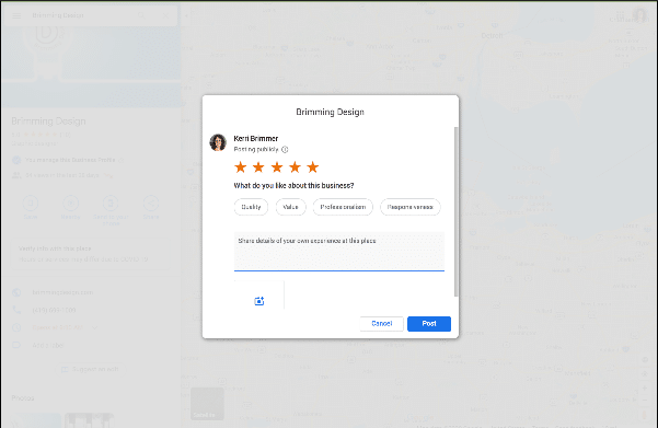 google review form