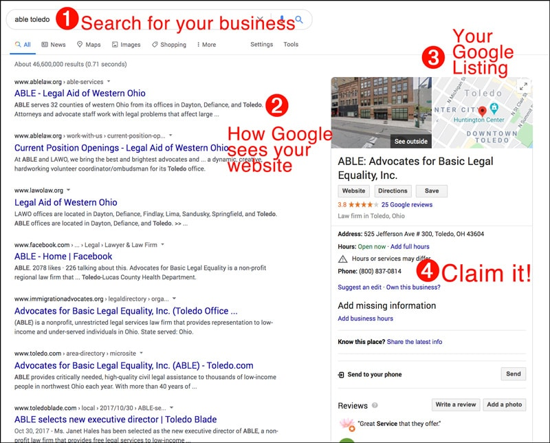 update your google listing