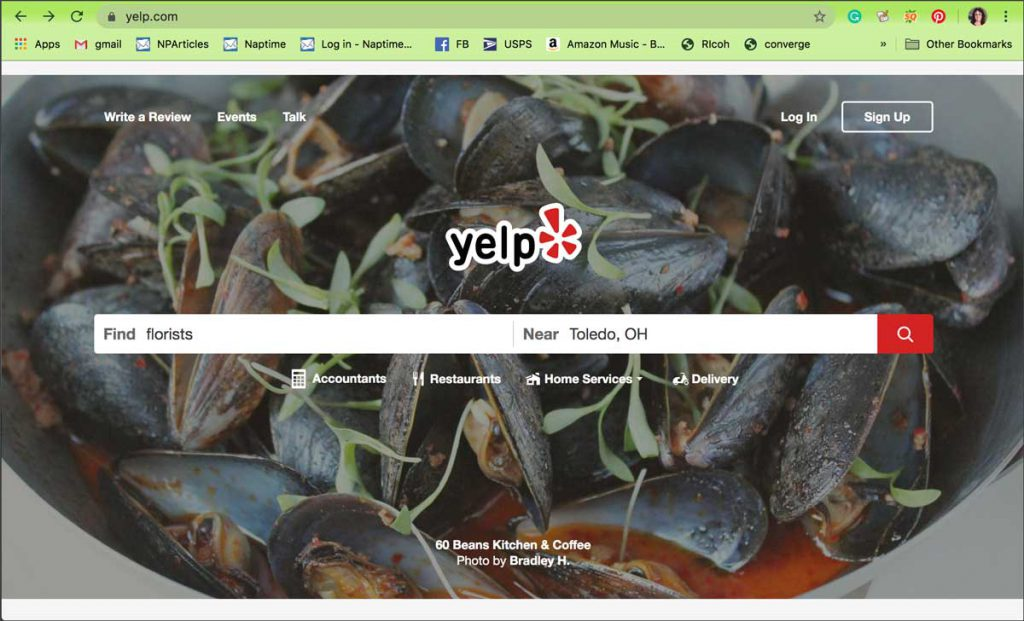 Yelp Home Search