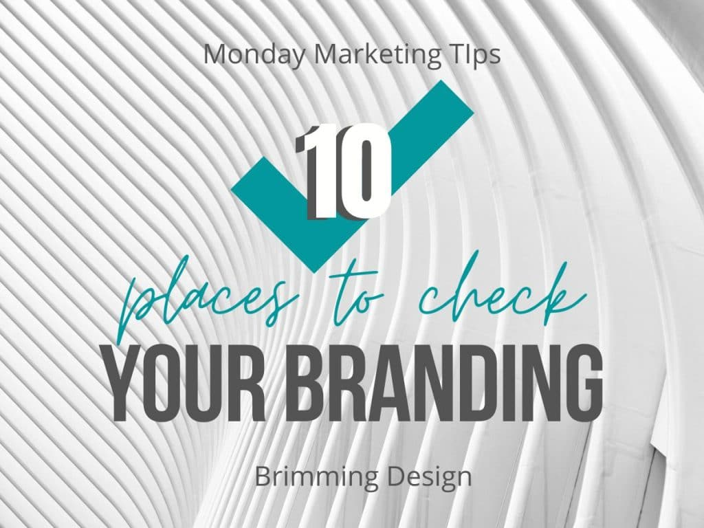 Check your branding
